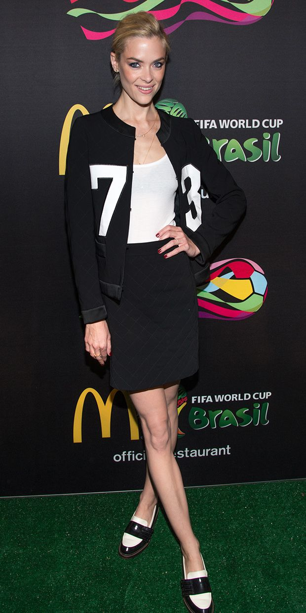 Jaime King Gets In Touch With Her Sporty Side For The World Cup