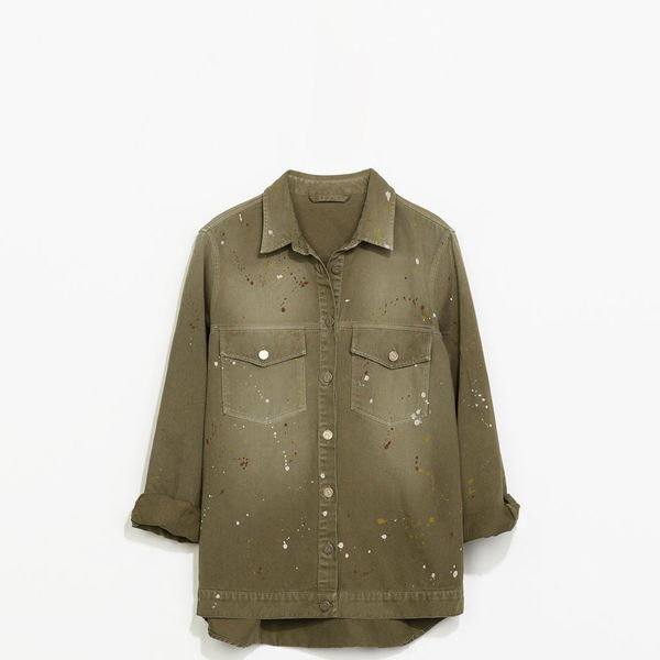 Zara Overshirt with Paint Marks
