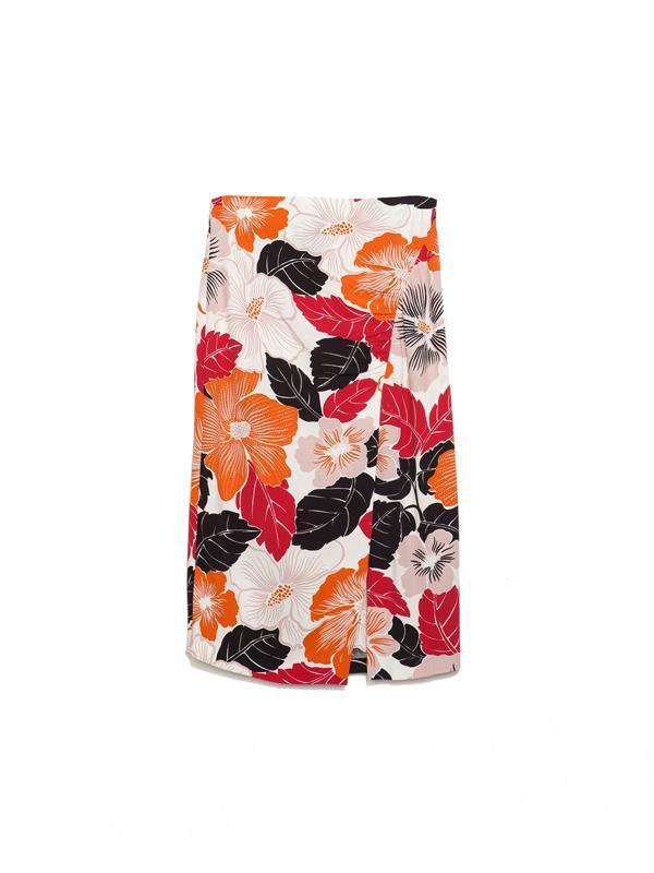 Zara Maxiflower Printed Skirt