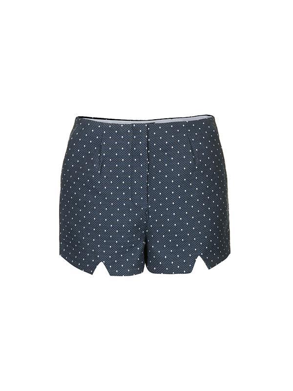 Topshop Polka Dot Notch Shorts