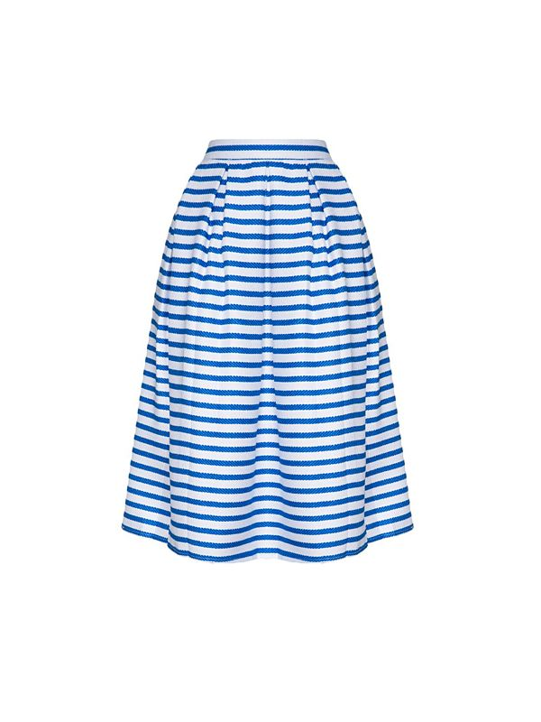 Pixie Market Nautical Midi Skirt