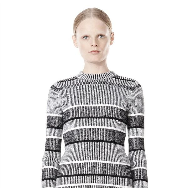 T by Alexander Wang Rib Knit Long Sleeve Sweater