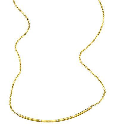Ariel Gordon Gold Arc Necklace with Diamonds