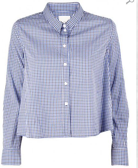Band of Outsiders Gingham Cropped and Boxy Shirt