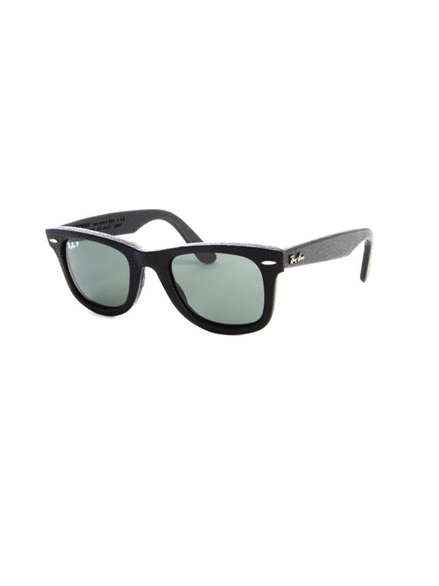 Ray-Ban Black Leather Wayfarers