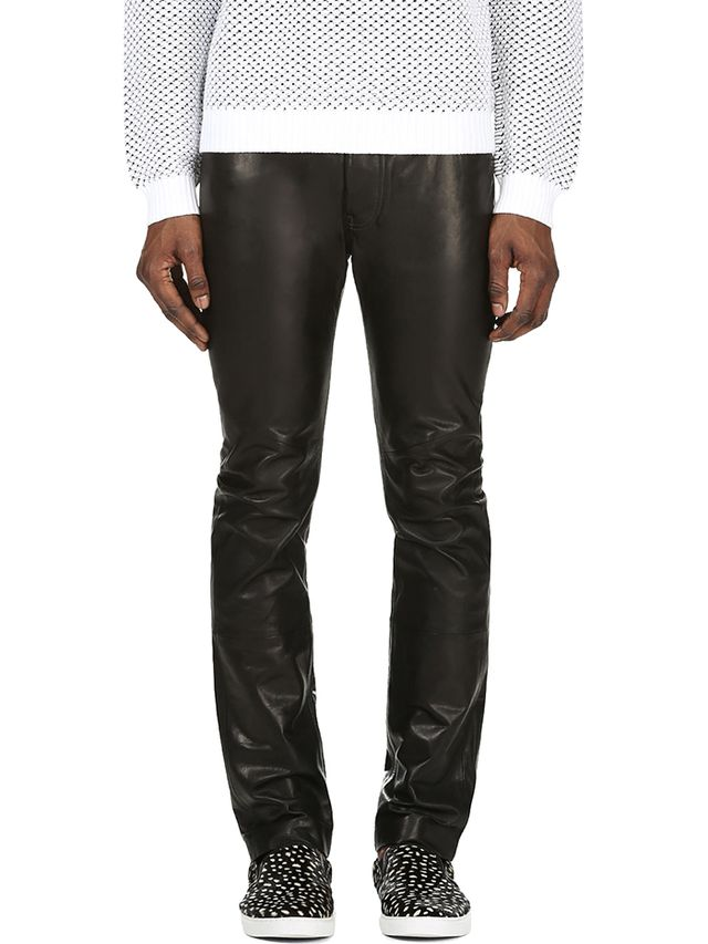 Maison Martin Margiela Slim Black Leather Trousers