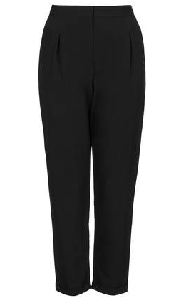 Topshop Notch Back Tapered Trousers
