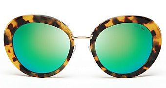 Prada Round Mirrored Oversized Sunglasses