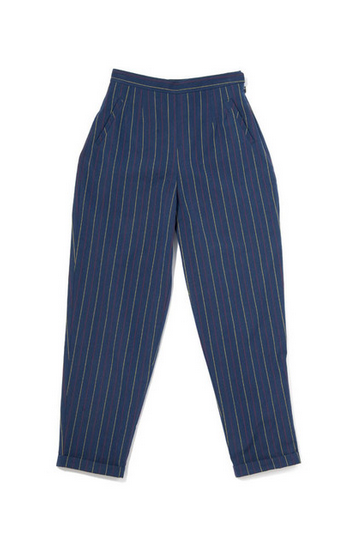In God We Trust Navy Stripe Sandy Pants