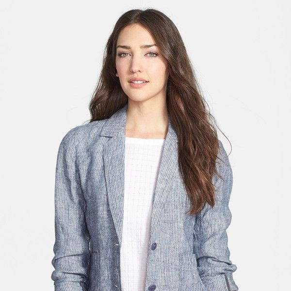 Eileen Fisher Shaped Linen Jacket