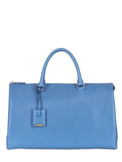 Jil Sander Large Jil Grained Leather Bag