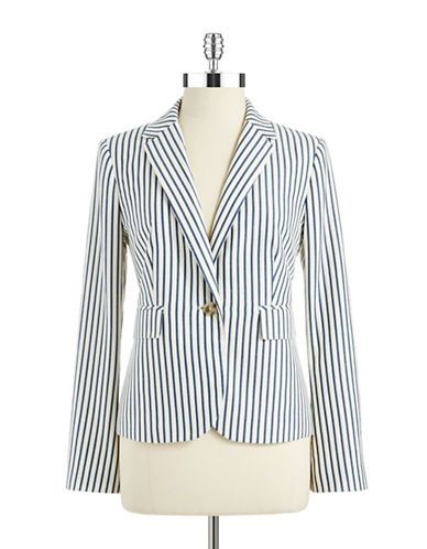 424 FIFTH Chambray Striped Blazer