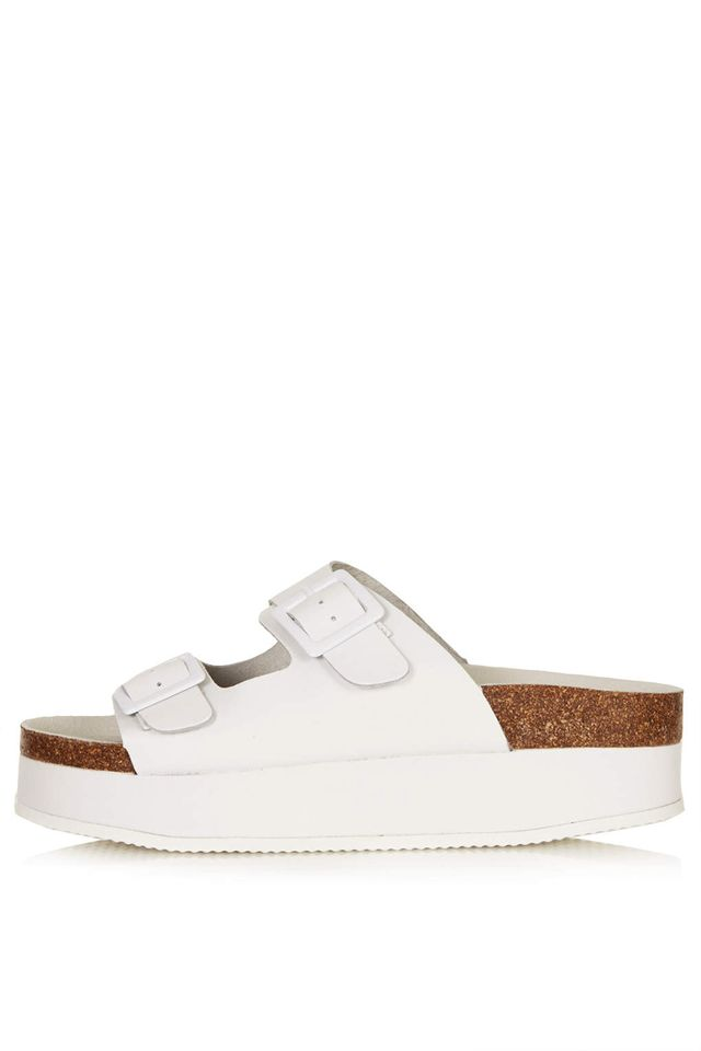 Topshop Fang Double Buckle Flatforms