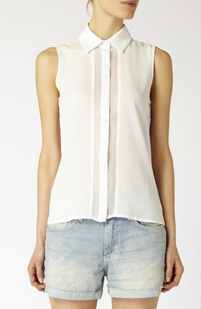 Obakki Sleeveless Silk Blouse