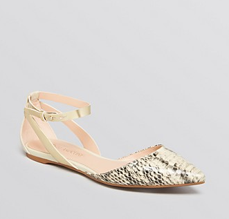 Enzo Angiolini Christaz Pointed Toe Ankle Strap Flats