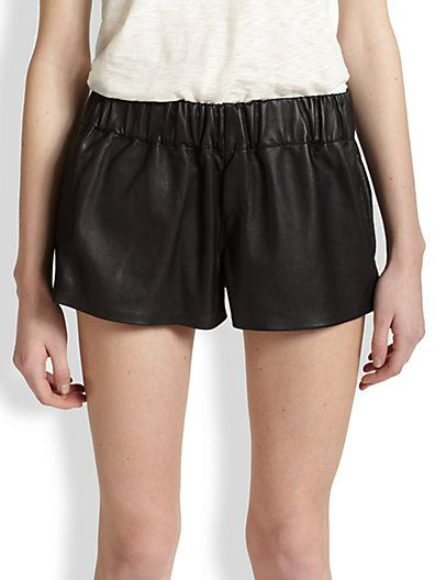 rag & bone/JEAN Leather Shorts