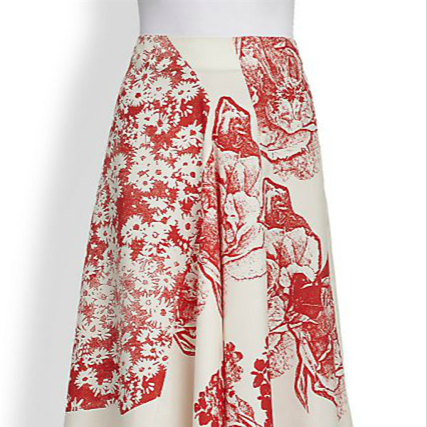 Stella McCartney Floral Print Satin Skirt