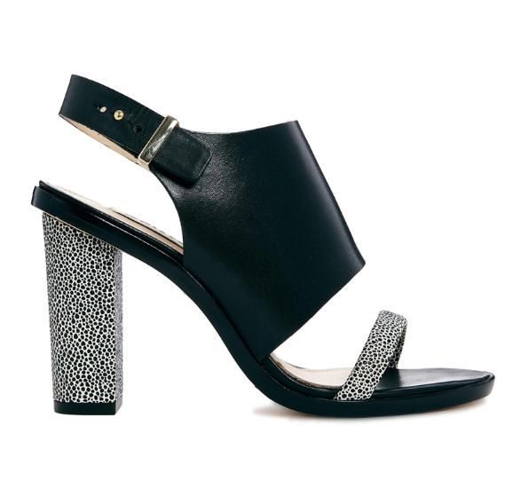 Whistles Gina Cuff Black Heeled Sandals