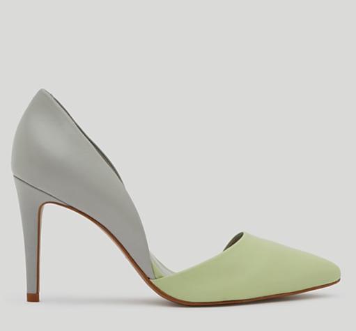 REISS Pointed Toe Asymmetric D'Orsay Heels
