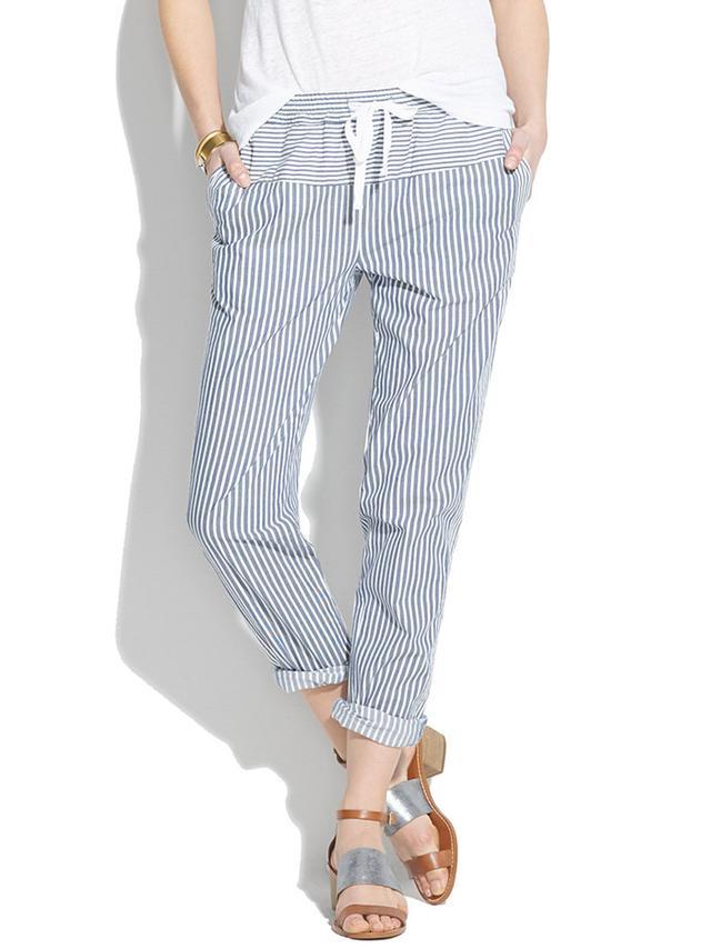 Madewell Stripework Drawstring Pants