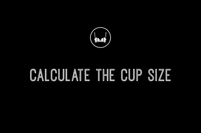 You might think you're done, but here's the catch: Your bust size and your cup size aren't actually the same number! The bust size is the number you just saw on the tape; the cup...