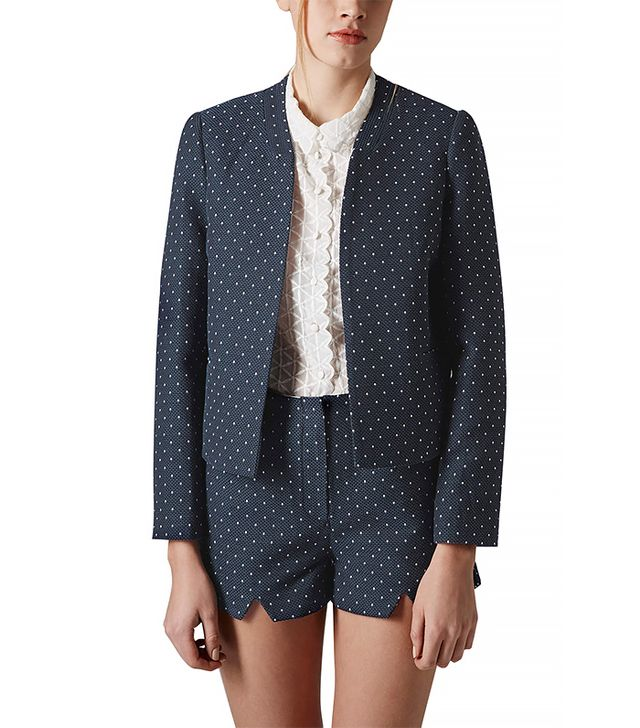 Topshop Polka Dot Crop Jacket and Shorts