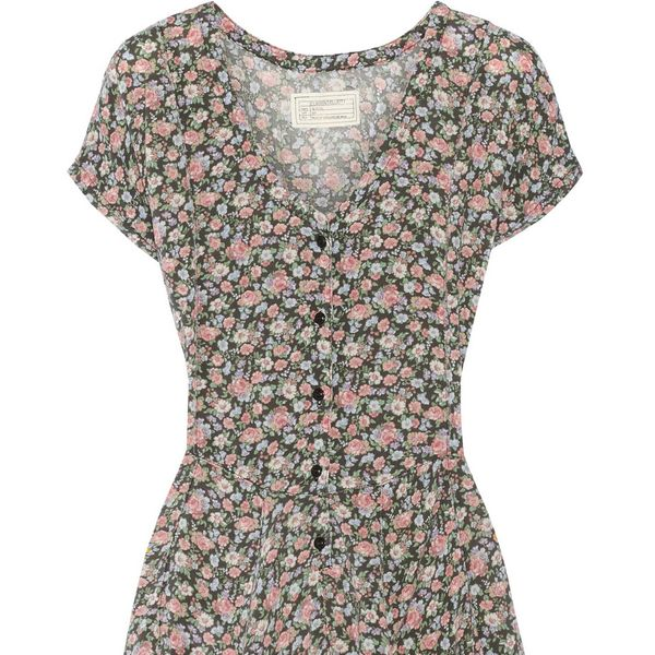 Current/Elliott The Swing Floral-Print Voile Dress