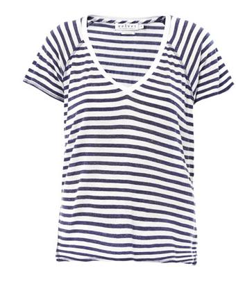 Velvet By Graham & Spencer Janis Stripe T-Shirt