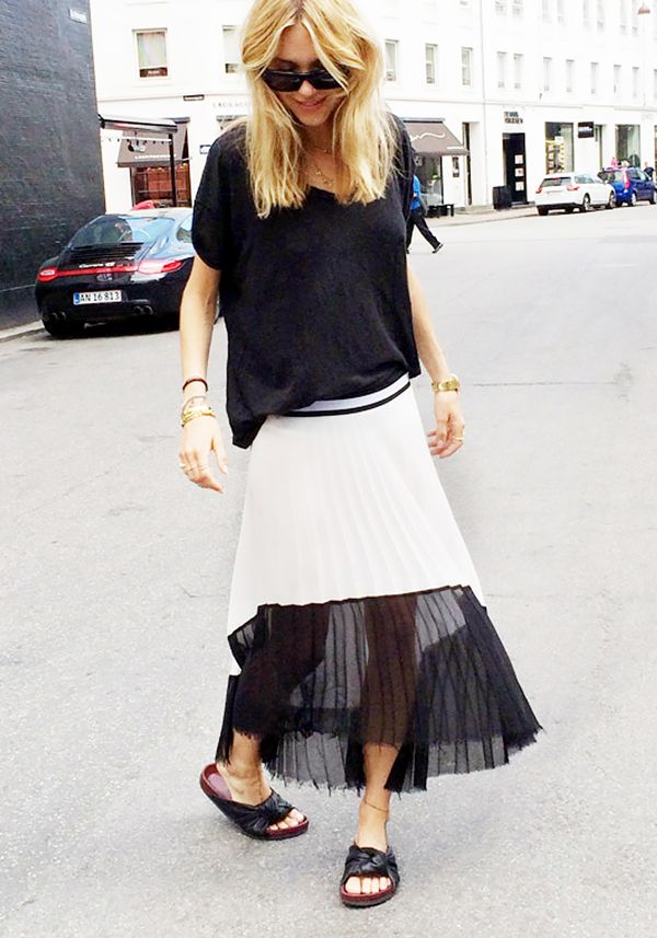 Get the Look: Bellatrix Asymmetric Pleated Midi Skirt ($58)