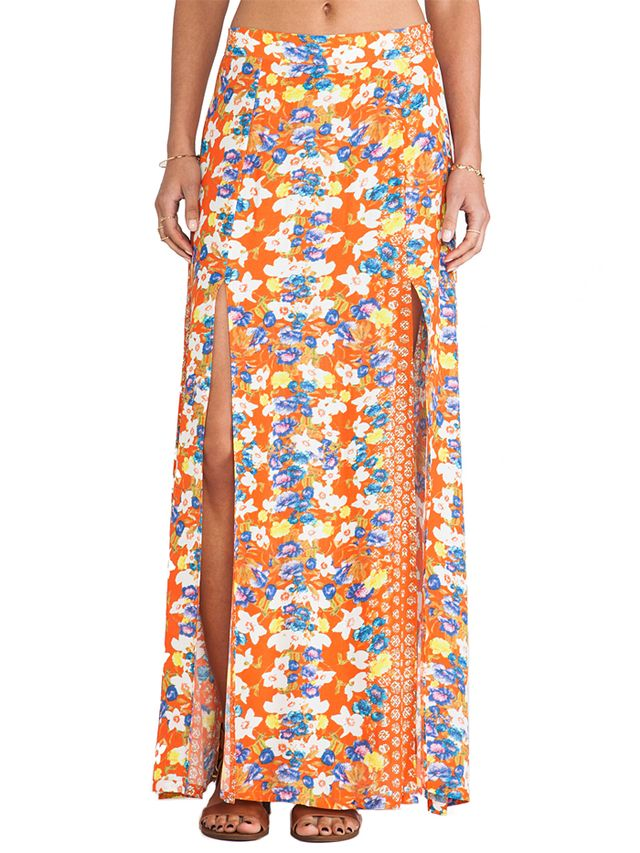 MINKPINK Orange Blossom Maxi Skirt