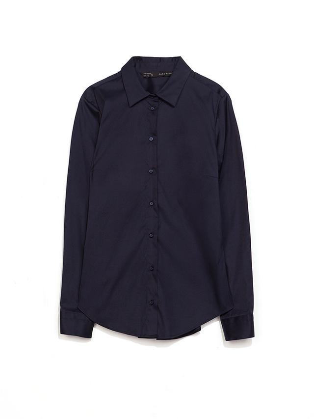 Zara Pleated Poplin Shirt