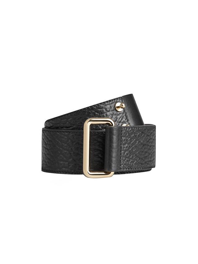 Burberry Prorsum Notch Detail Leather Belt
