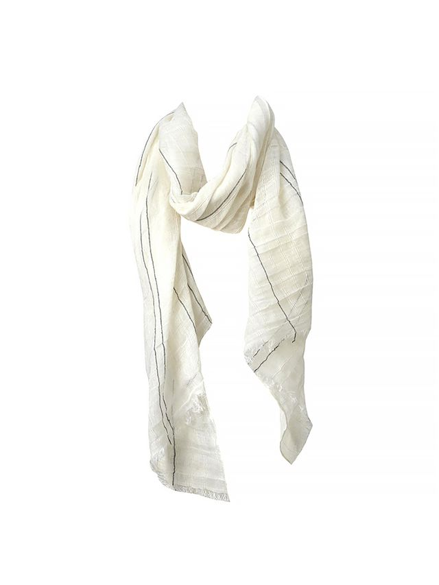 Gap Embroidered Stripe Scarf