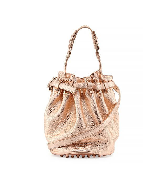 Alexander Wang Diego Dumbo Metallic Bucket Bag
