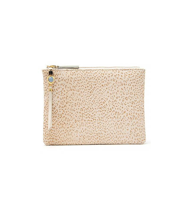 Lizzie Furtunato Jewels Front Row Leopard Clutch