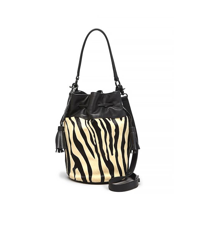 Loeffler Randall Crossbody Haircalf Industry Bucket Bag