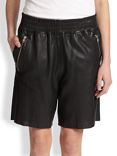 OAK Perforated Leather Shorts