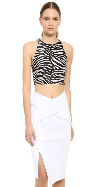 Josh Goot Zebra Harness Top