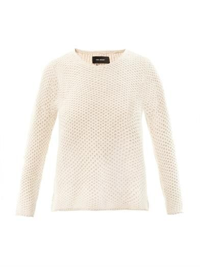 Isabel Marant Issac Waffle-Knit Angora Sweater