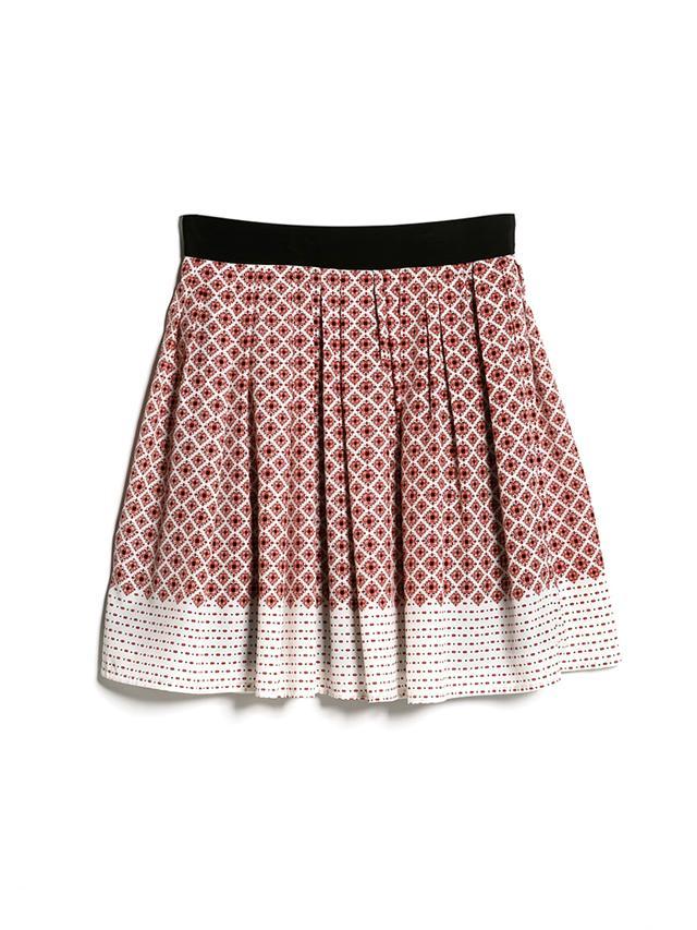 Mango Printed Skater Skirt