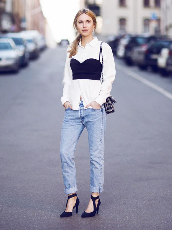 If you've got ample bosom to work with, then you might want to try a sneaky little trick we first saw worn to perfection on Danish blogger Pernille Teisbaek: Wear one over a blouse! She...