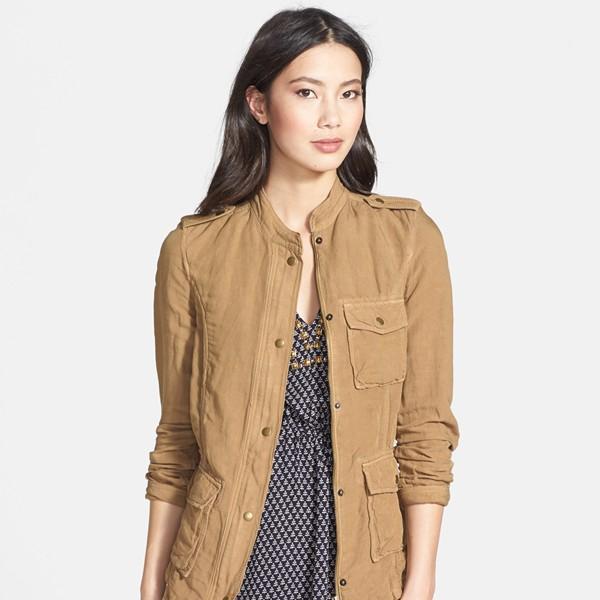 Lucky Brand Wildwood Linen Blend Jacket