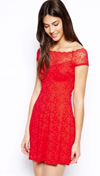 TFNC Bardot Lace Dress