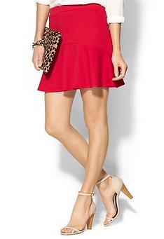 Everly Clothing Fluten Skater Skirt
