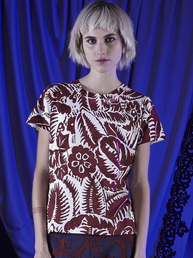 Marc Jacobs Un-Named Floral Jersey T-Shirt