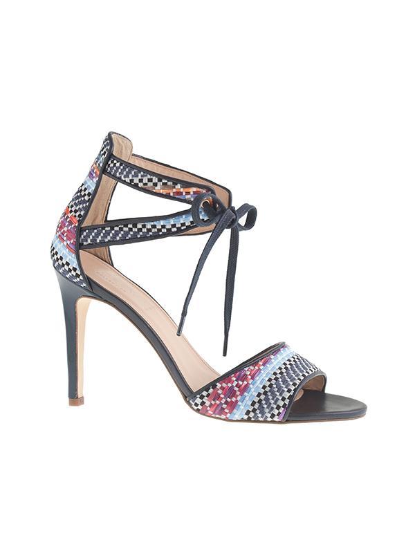 J.Crew Collection Woven Raffia Tie-Front High-Heel Sandals