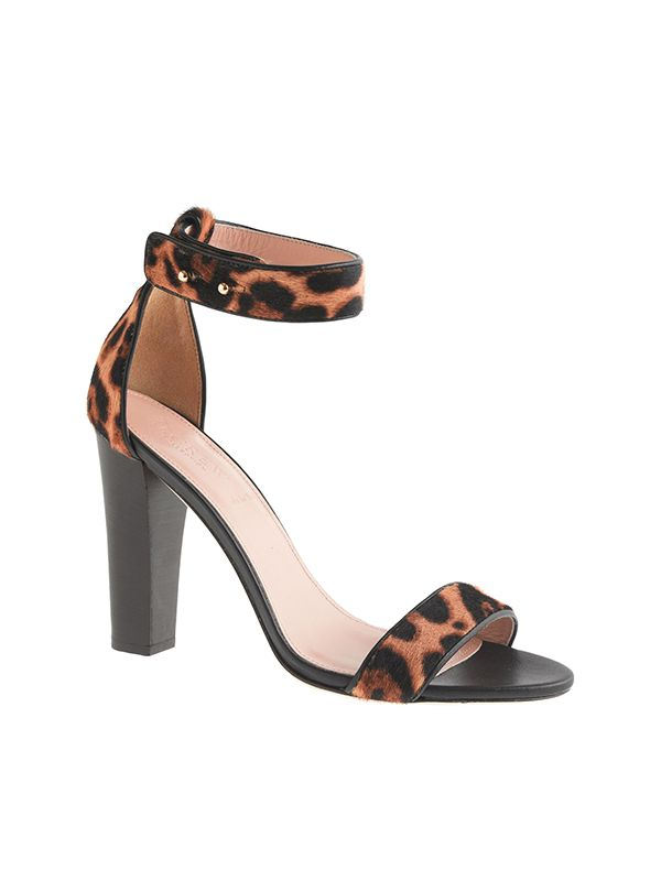J.Crew Collection Lanie Calf Hair Stacked-Heel Sandals