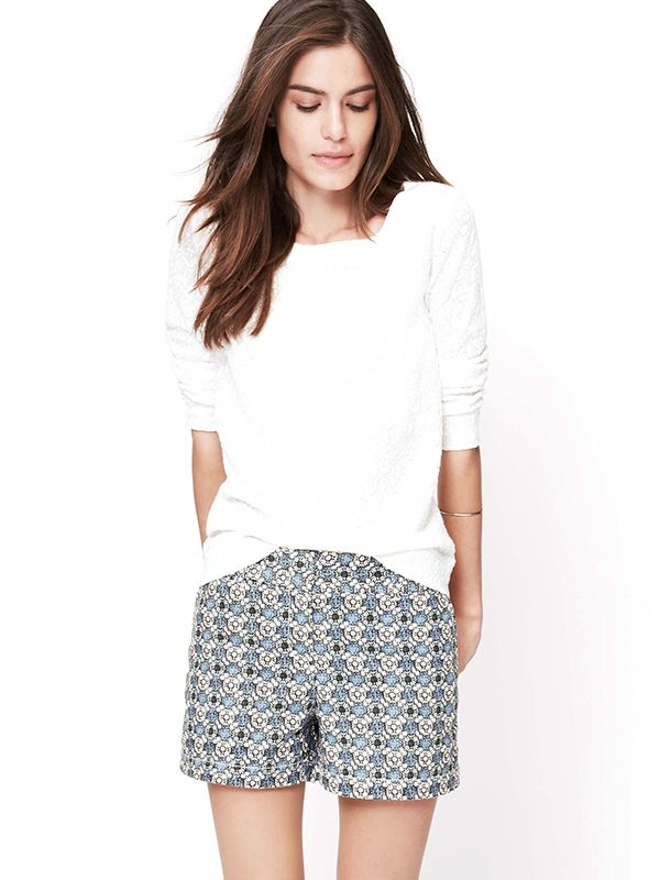 Loft Floral Tile Riviera Shorts With 4-Inch Inseam