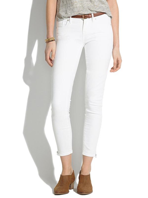 Madewell Skinny Skinny Cropped Zip Jeans