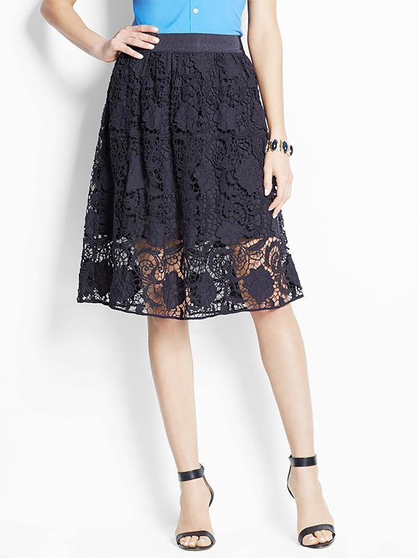 Ann Taylor Trellis Lace Skirt